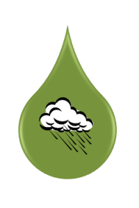Green Water is the water that comes from rain that is absorbed directly into the soil