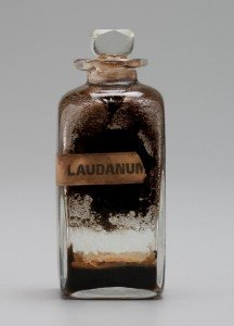 Laudanum An opium-based medicine Bottle shown is from an 1836 medicine chest