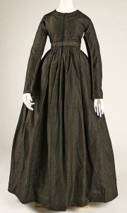 Example of 1840s female dress