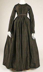 Example of 1840s female dress