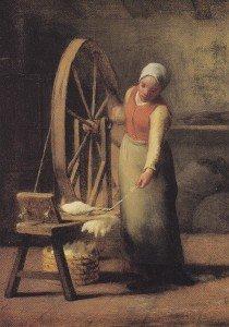 Spinning by Jean-François Millet (1614-1675)