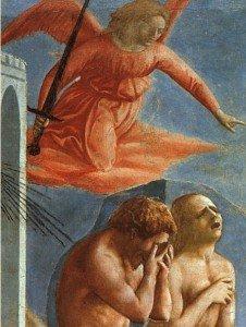 From Cacciata dei progenitori dall'Eden by Masaccio