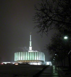 Provo Temple night