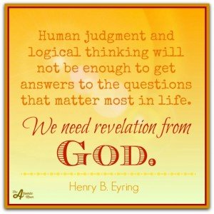Eyring revelation from God