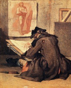 Jean-Baptiste-Simeon Chardin, Young Draughtsman Copying an Academy study