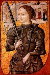 Jeanne d'Arc, An artist's c. 1485 interpretation.