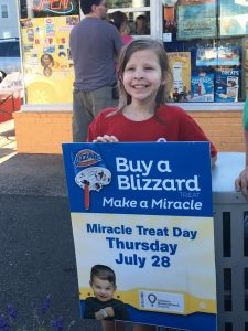 Emma - CMN Hospitals Connecticut Champion 2016 - 2017 - at Dairy Queen